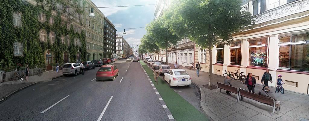 Vizualizace možné podoby rekonstrukce Legerovy ulice.